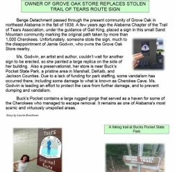 Alabama Chapter of the Trail of Tears Association Newsletter